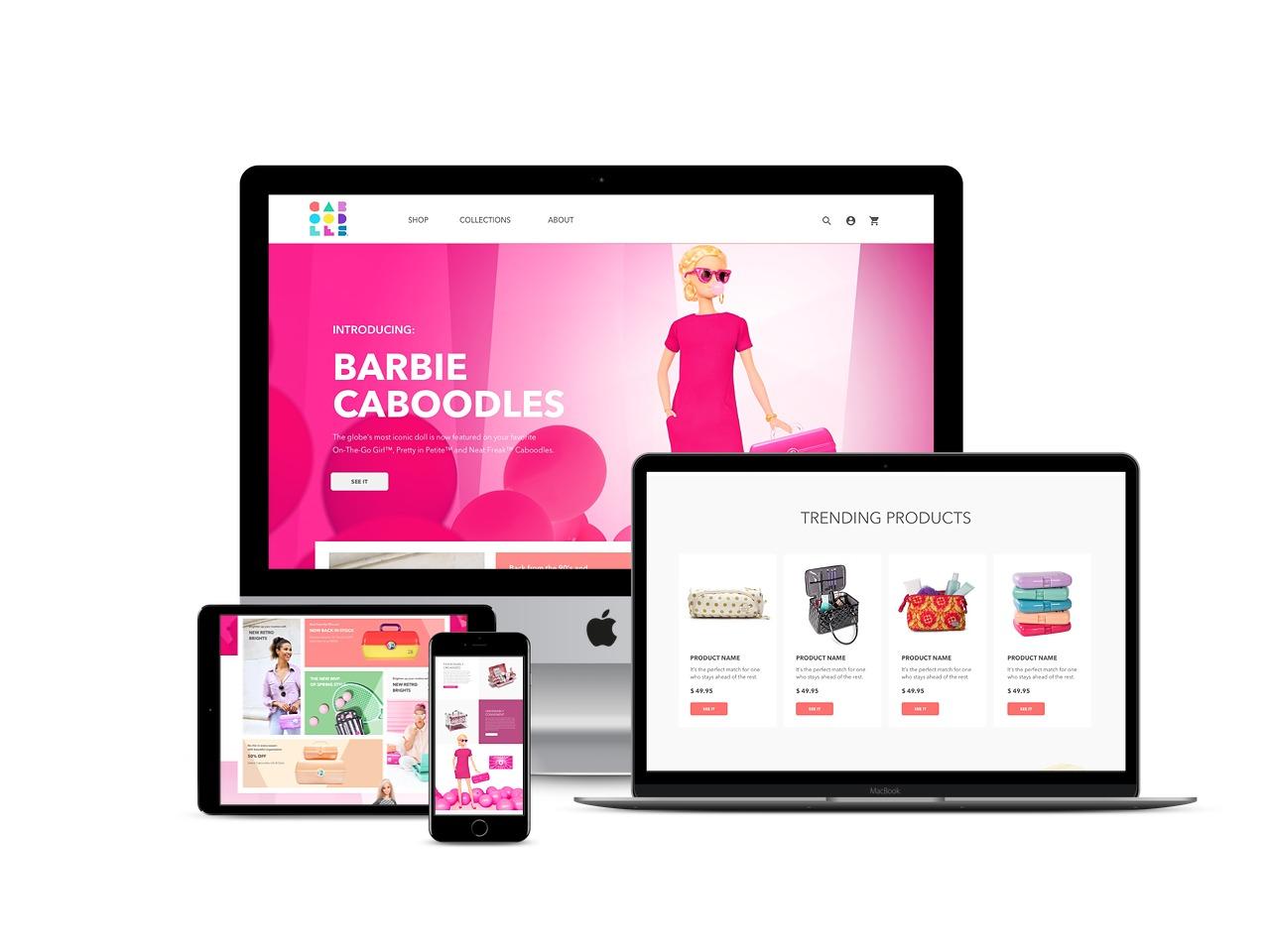 caboodles website design
