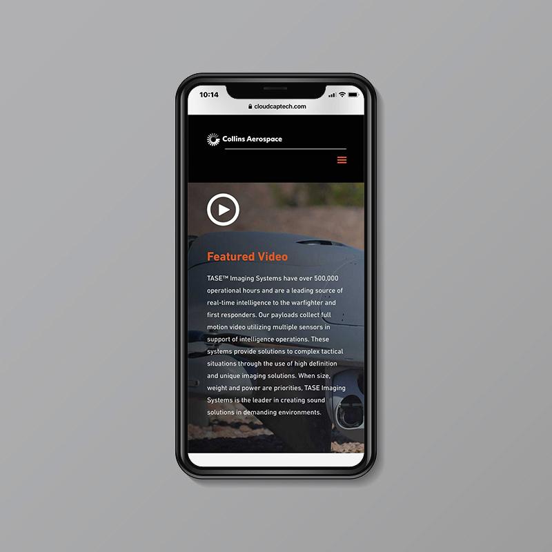 collins aerospace mobile website video a