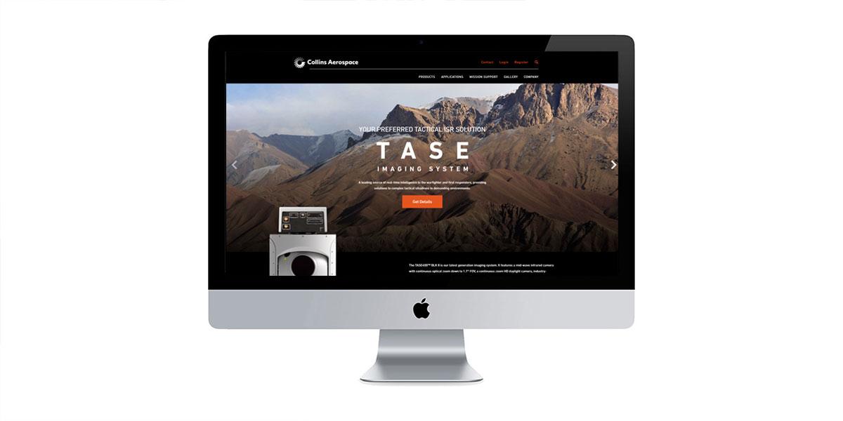 collins aerospace website design