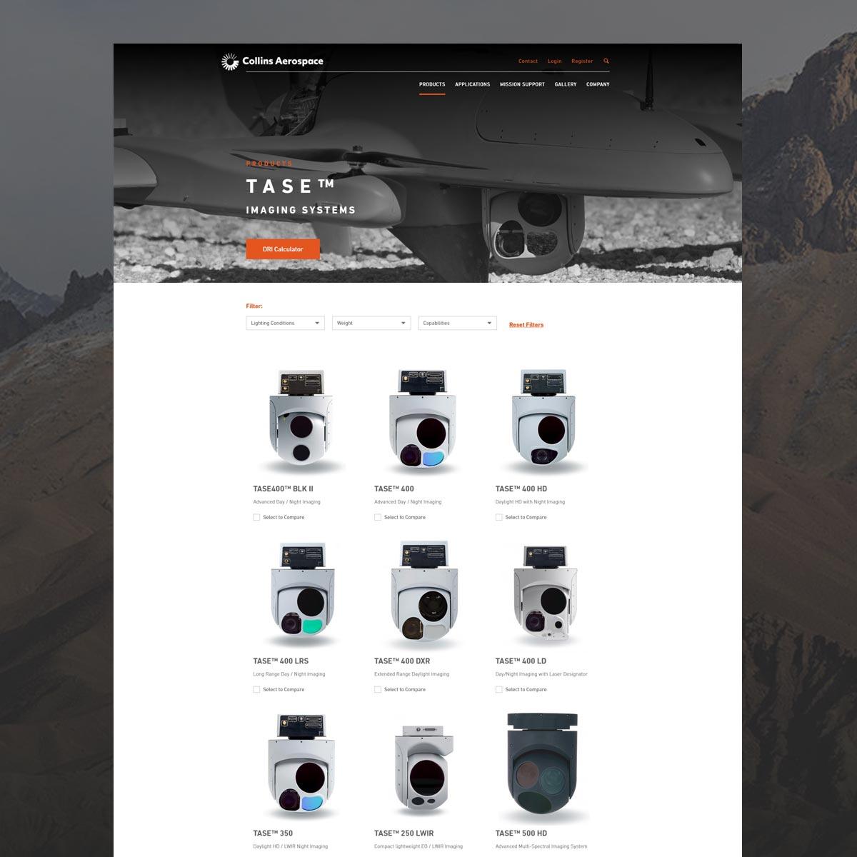 collins aerospace website tase 2