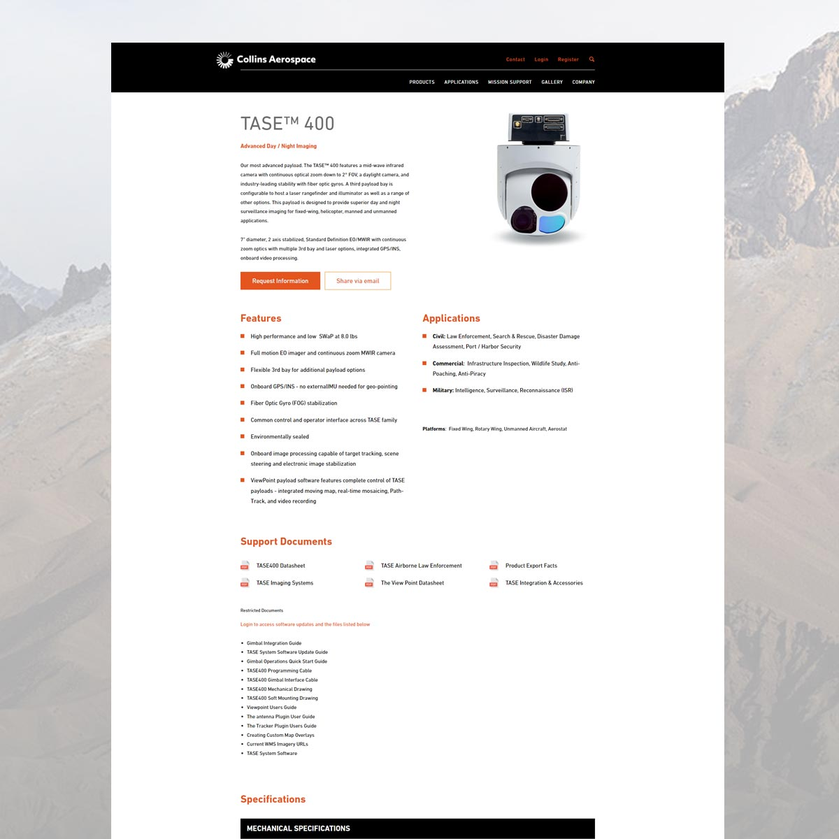 collins aerospace website tase 3a