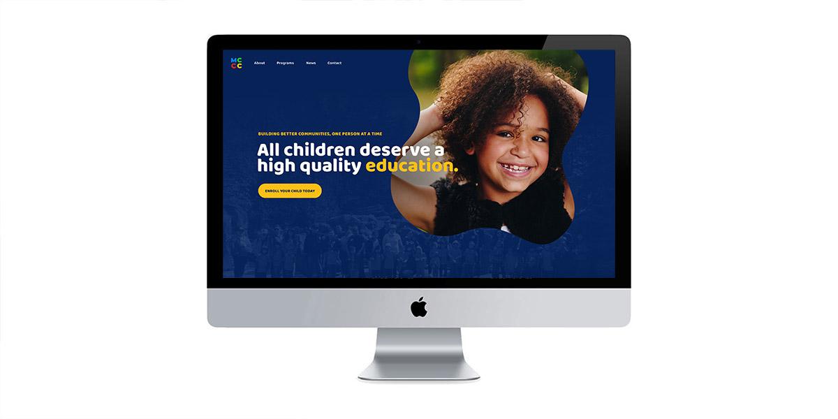 mccc website homepage design