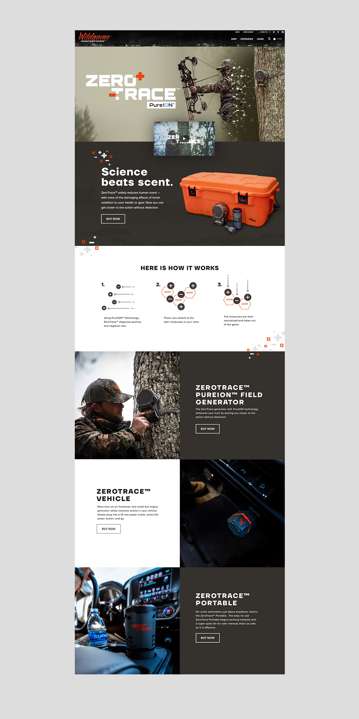 wildgame innovations website design