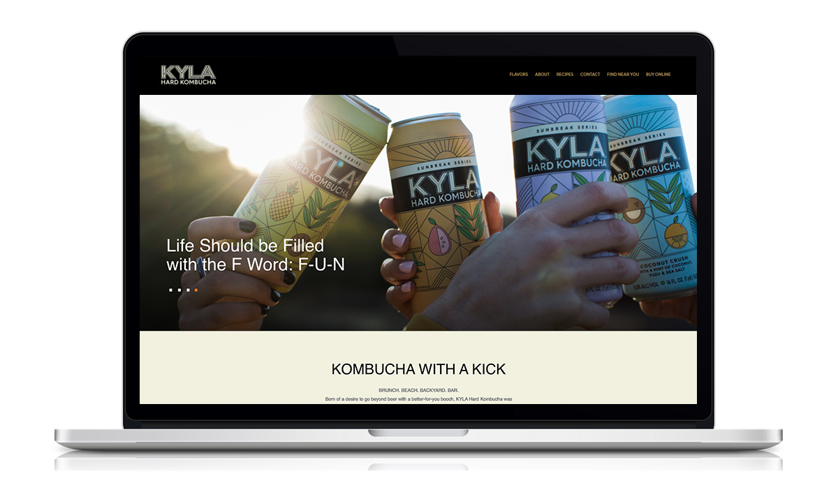 kyla kombucha beach website