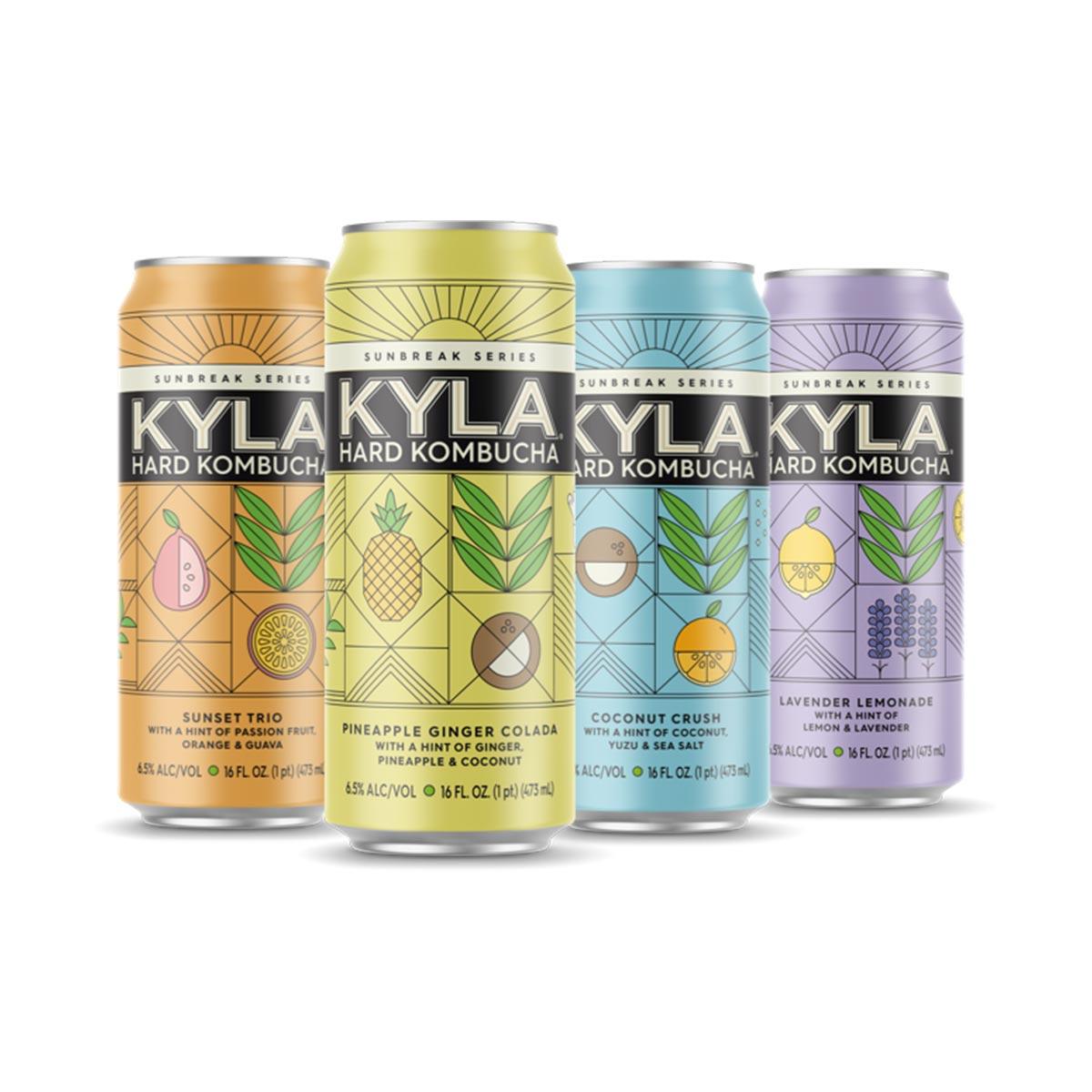 kyla kombucha lineup