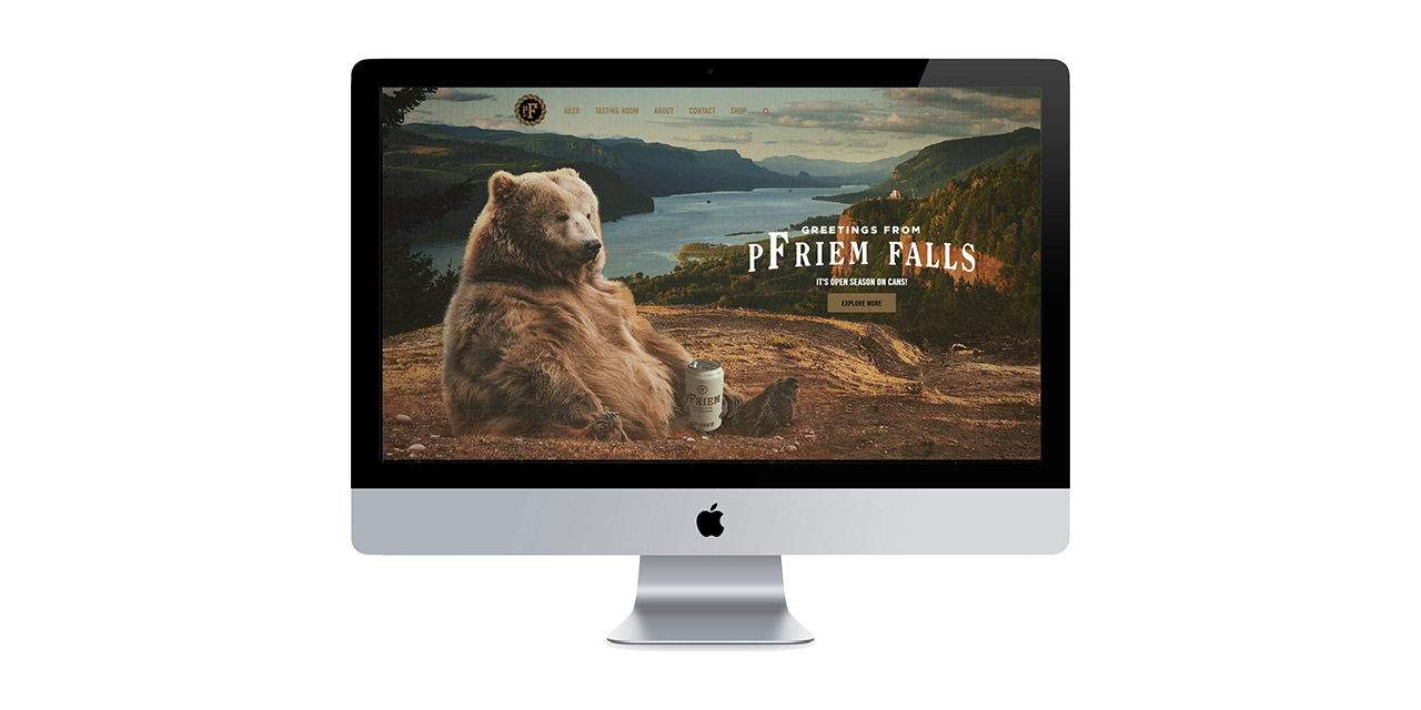 pfriem falls website design